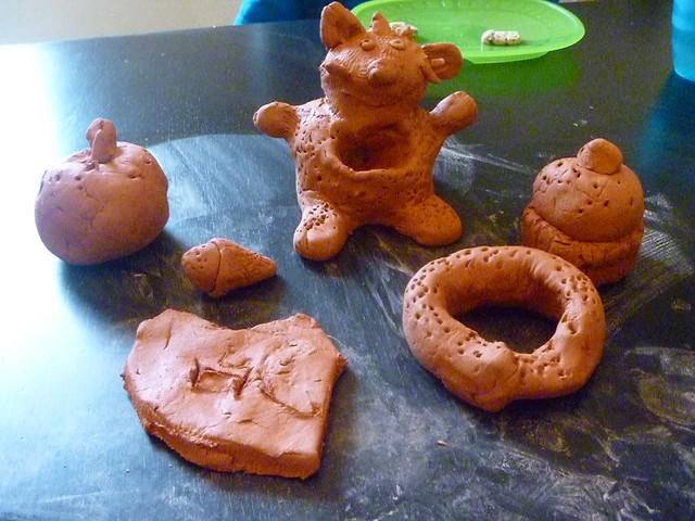 Hugo's terra cotta clay bits