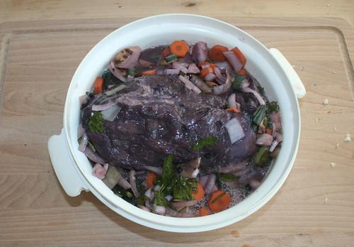 21 - Fleisch aus Marinade nehmen