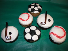 Sports Cupcakes (GRAMPASSTORE) Tags: cake cakes cupcake cupcakes cookie cookies favors birthday girls boys 2d 3d baby unique custom wedding shower anniversary retirement kids graduation catering sports soccer baseball hockey grampas store grandpas grandpa chicago teams cubs bears blackhawks sox bulls football basketball jersey logo wrestling 60525
