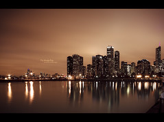 The Windy City (Dkillock) Tags: longexposure sunset usa chicago david reflection 35mm canon eos evening illinois cityscape dof skyscrapers sundown bokeh dusk mark wide perspective shift wideangle lakemichigan full ii frame 5d navypier 24mm fullframe tilt ef tse greatlake mkii windycity f35 llens killock 5dmarkii 5d2 5dmkii dkillock davidkillockphotography acr2011 canonef24mmf35ltseii