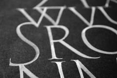 Alfabet a Lgumkloster detall (Oriol Mir Genovart) Tags: calligraphy oriol mir caligrafa calligraphie kalligrafi calligrafia