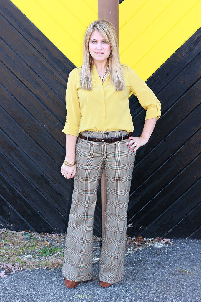plaid pants work outfit