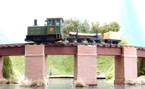 Loco crossing viaduct