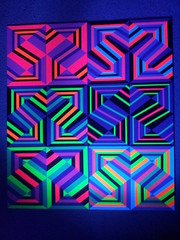 under blacklight (Carl Cashman) Tags: abstract geometric 3d neon pattern uv optical illusion blacklight carl cashman neometry