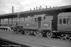 16/04/1960 - Leeds City. (53A Models) Tags: train railway steam westyorkshire 3p lms passengertrain 262t stanier leedscity britishrailway 40181