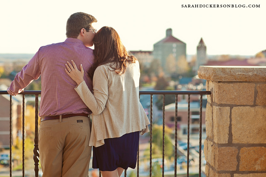 University of Kansas engagement photos