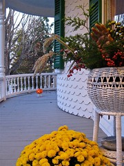 Hello! (smilla4) Tags: halloween hand maine victorian mums porch wicker