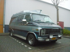 1979 Chervrolet Sportvan kampeerauto (Vinylone - ISCE = On Trade Break) Tags: 1979 chervrolet sportvan kampeerauto
