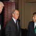 CdM President Wim Kok, NYC Mayor Michael Bloomberd and former President of Peru Alejandro Toledo