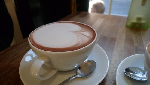 Hot chocolate at Tomtom Coffee House