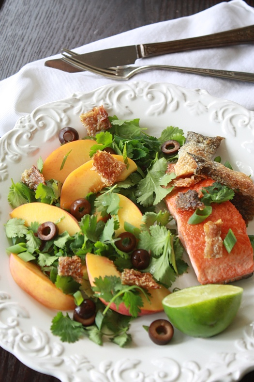 Salmon and Peach Salad
