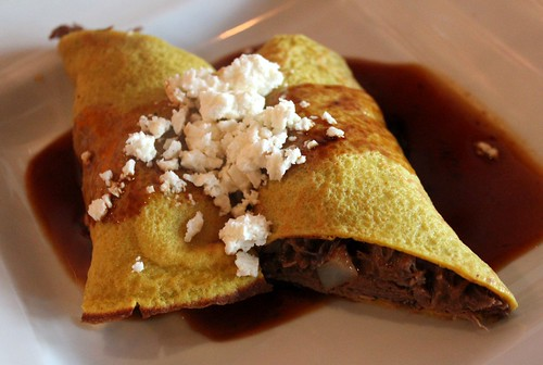 Braised Lamb Crepes