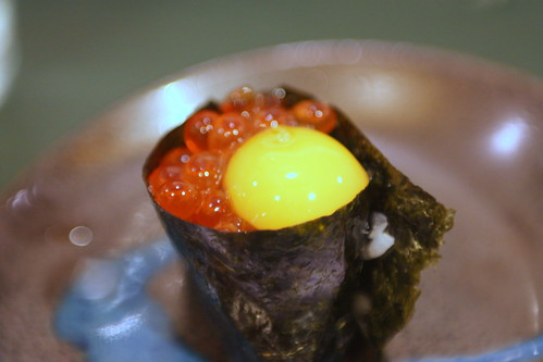 Ikura (Salmon Roe with Quail Egg)
