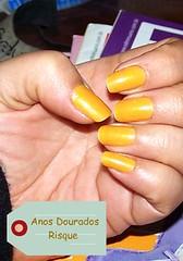 Esmalte do Dia (O GATO MIMOSO) Tags: nails manicure anos risque unha dourados esmalte