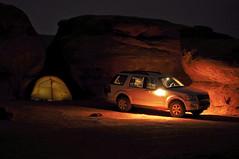 Camping at Hamburger Rock (David M Hogan) Tags: southwest night utah sandstone explorer tent needles campground coloradoplateau hamburgerrock southwestroadtrip2011