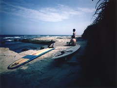 Many Classic Moments (Yoshikatsu Sato) Tags: sea surfer longboard instant 4x5 largeformat mellow surfin yakosuka