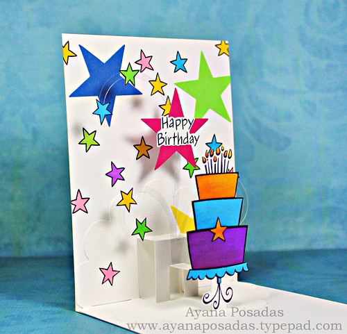 Pop-Up Star Birthday Cake (3)
