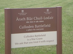 Culloden Battlefield Sign