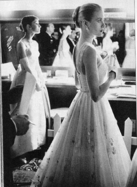 Audrey Hepburn e Grace Kelly 1956