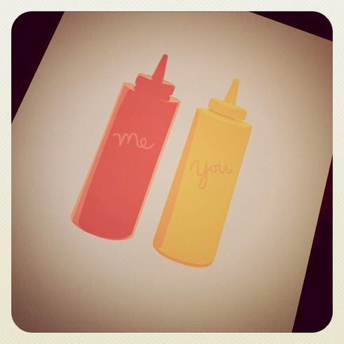 Ketchup n' mustard from Hannah at Pie Bird Press