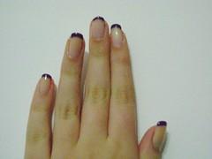 Francesinha Estilizada. (sarinags_) Tags: estilo unhas roxo capricho risqué esmalte francesinha clubedoesmalte francesinhaestilizada