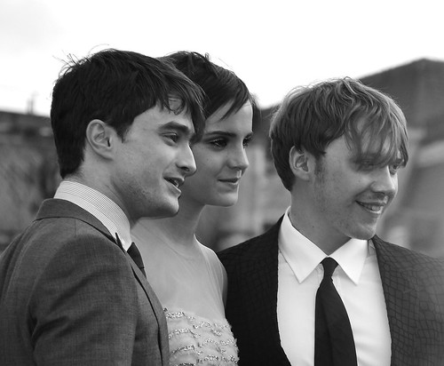 Daniel Radcliffe, Emma Watson & Rupert Grim
