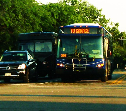 Pace bus retuning to the garage at the end of the day.  Glenview Illinois USA. July 2011. by Eddie from Chicago