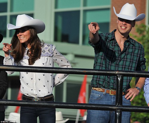 Wild Will Hickock and Calamity Kate cause a stampede as they don matching hats and get into the cowboy spirit   10