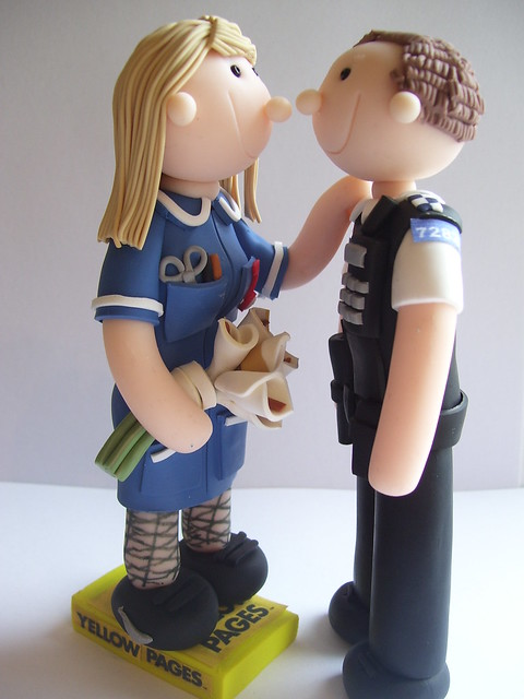 police wedding cake toppers