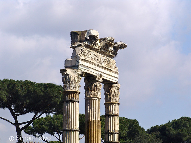 Rome, The Temple of Castor and Pollux