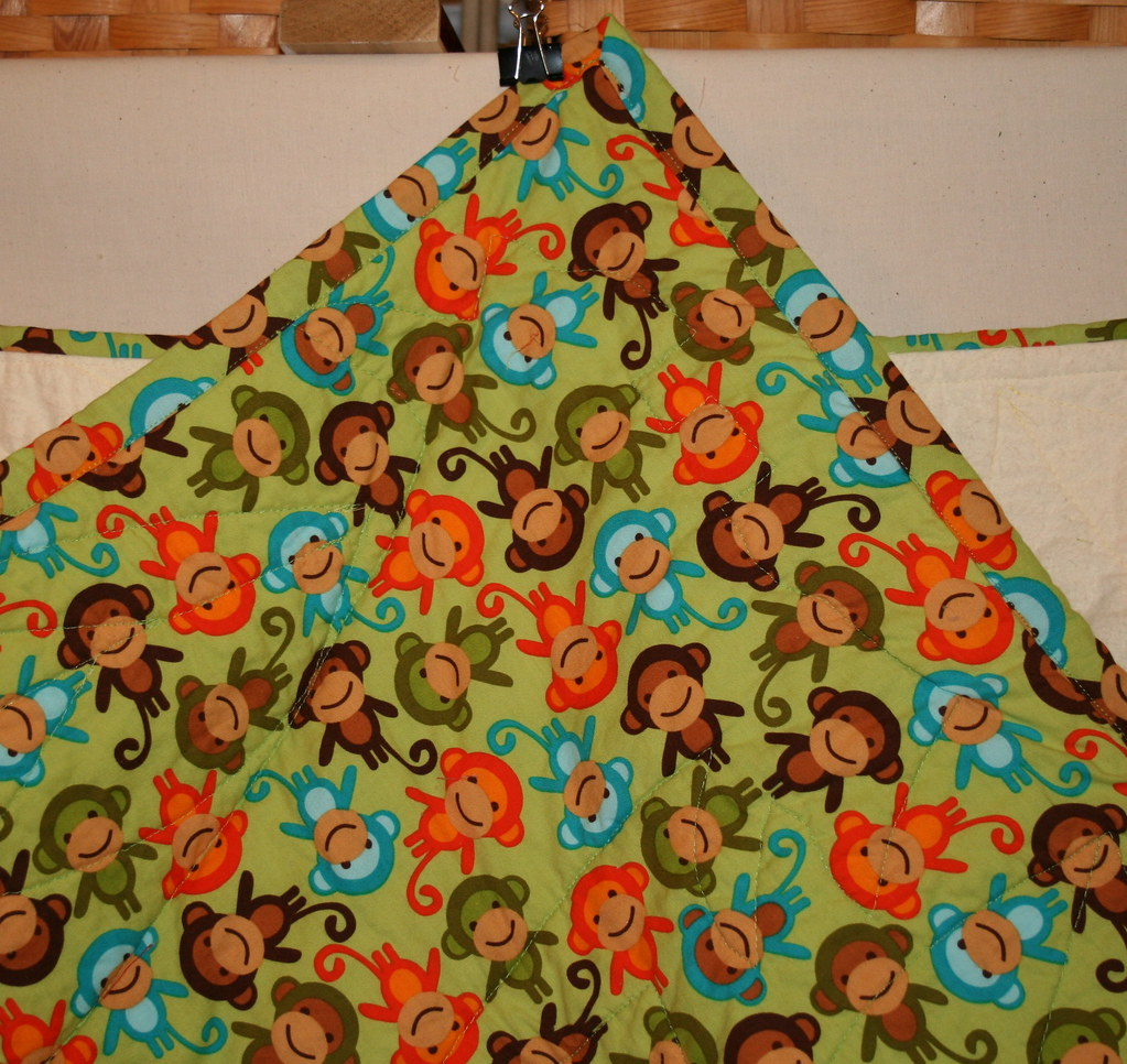 First baby quilt back Urban Zoologie by Robert Kaufman
