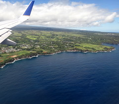 On approach to Hilo Intl. Airport () Tags: vacation sky holiday clouds plane airplane island hawaii fly inflight paradise aircraft united flight wing jet continental aerial shaka greetings boeing winglet stewardess rtw isla aloha aereo hangloose vacanze avion 737 mahalo unitedairlines roundtheworld winglets flightattendants flightattendant continentalairlines globetrotter northpacific airplanewing 737800 areo jetwing airhostess boeing737 staralliance northpacificocean 10days insidetheplane worldtraveler  ario  continentalairways shakasign interiorcabin inthecabin 737800900  hawaii2011