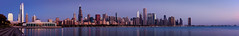 Chicago Dawn (Bryan Nabong) Tags: panorama chicago tower skyline john dawn aquarium pier illinois cityscape pano sears navy panoramic hancock shedd willis hugin