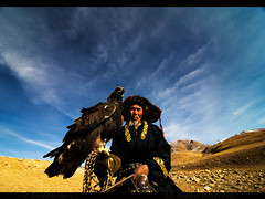 MONGOLIA (BoazImages) Tags: life male asian outdoors asia eagle traditional hunting culture documentary mongolia hunter tradition centralasia kazakhstan kazakh hunters mongolei kazak  altay kazajstn mongoli   abigfave moolistan monglia  boazimages    westernmongolia   lamongolie
