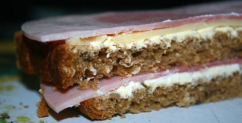 Ham cheese sandwich / Schinken-Käse-Sandwich