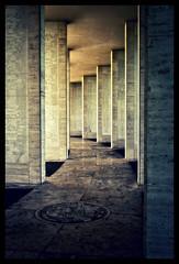 American Memorial Pillars (P-to-the-J) Tags: architecture grunge pillars leadinglines americanwarmemorial tonalcontrast