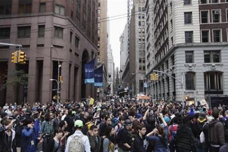 Thousands came out in  defense of the Occupy Wall Street demonstrators who have been staging a sit-in at Zuccotti Park in Lower Manhattan. The City of New York backed off removing the people occupying the park since Septemmber 17. by Pan-African News Wire File Photos