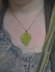 Nettle pendant - finished!