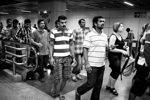 Men at Little India Station, Singapore