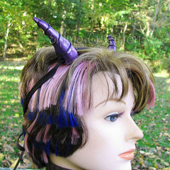 Purple and Black Dragon Horns
