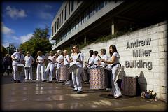 Funkin it up_9336a (Beat That Samba Band) Tags: that 40th scotland samba university stirling centre arts womens beat 40 drumming macrobert