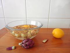 alcachofra no limão