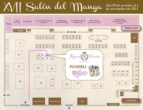 Mapa stand - Salón del Manga 2011 by puxineli