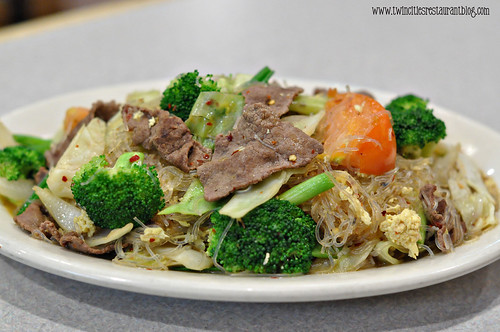 Pad Woon Sen with Beef at Sam Thai Cuisine ~ White Bear Lake, MN