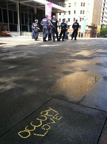 """Occupy Love"" somehow survived the waterblasting of Martin Place"