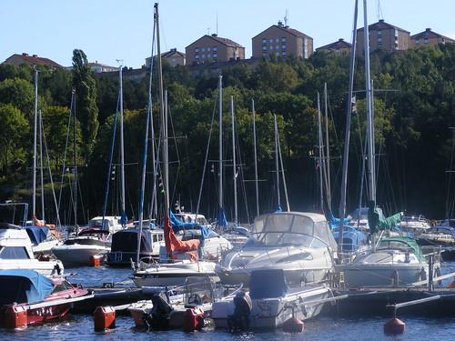 Un pequeño puerto para embarcaciones pequeñas en Södermalm.