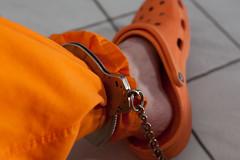 MUSCOGEE_6309 (skinmatems) Tags: uniform prison jail prisoner jumpsuit inmate legirons