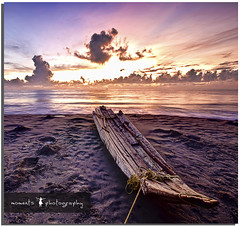 waiting to be released... (PNike (Prashanth Naik..back after ages)) Tags: longexposure blue light sea sky orange india beach water colors clouds sunrise boat sand nikon asia tied tamilnadu pondicherry pondy puducherry d7000 pnike yahoo:yourpictures=landscape