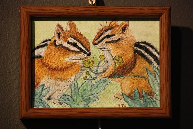 chipmunks bad art show