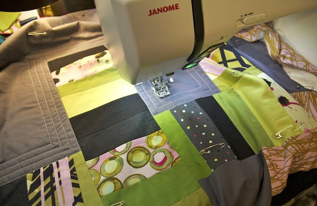 Quilting the Habitat Challenge quilt